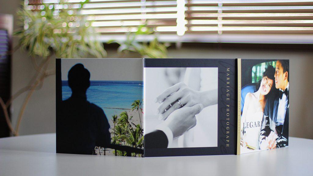 結婚式写真、前撮り写真パノラマ写真台紙