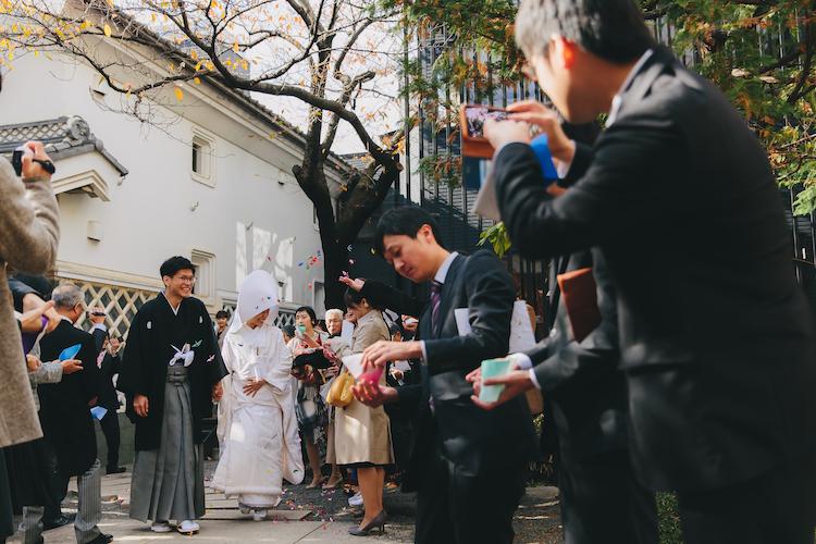 白無垢結婚式長野松本レストランヒカリヤ写真スナップ撮影事例
